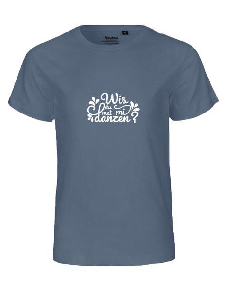 Wis du met mi danzen? | T-Shirt KINDER | DUSTY INDIGO (blaugrau)