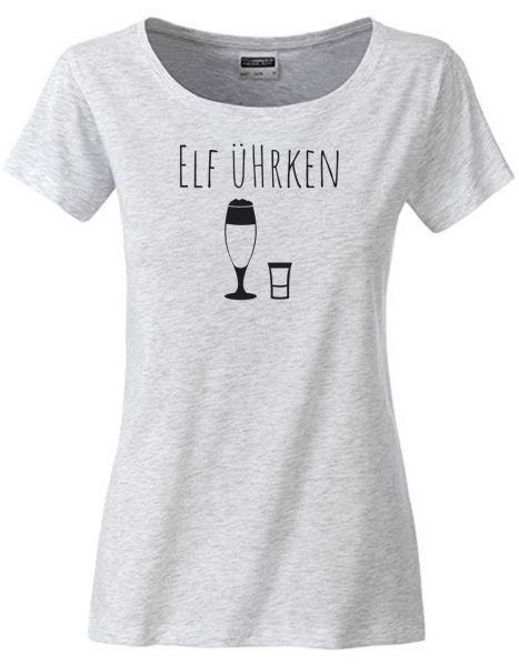 Elf Ührken | T-Shirt DEERNE | ASH HEATHER (hellgrau)