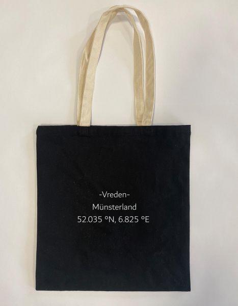 Breiten- und Längengrad klein | Baumwoll Tasche | Einkaufstasche