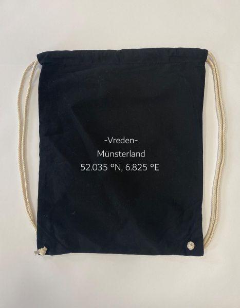 Breiten- und Längengrad klein | Baumwoll Rucksack | Sportsack