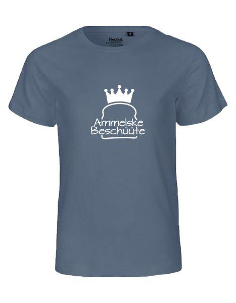 Ammelske Beschüüte | T-Shirt KINDER | DUSTY INDIGO (blaugrau)