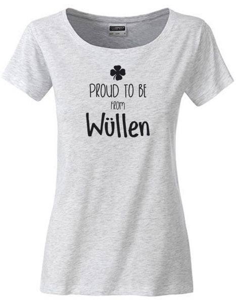 Proud to be from Wüllen | T-Shirt DEERNE | ASH HEATHER (hellgrau)