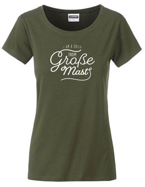 I am a child from Große Mast | T-Shirt DEERNE | OLIVE GREEN (olivgrün)