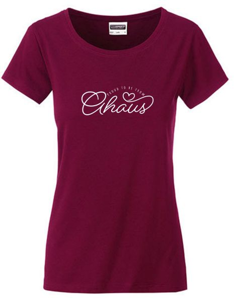 Proud to be from Ahaus | T-Shirt DEERNE | WINE RED (weinrot)