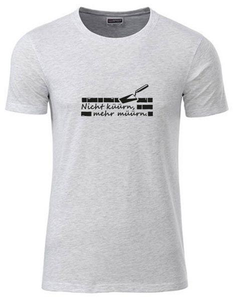 Nicht küürn, mehr müürn | T-Shirt JUNGE | ASH HEATHER (hellgrau)