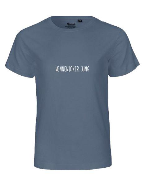 Wennewicker Jung | T-Shirt KINDER | DUSTY INDIGO (blaugrau)