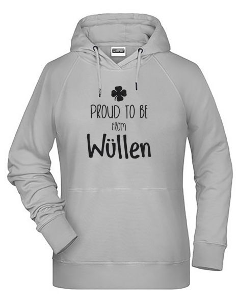 Proud to be from Wüllen | Hoodie WOMAN | ASH (hellgrau)