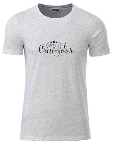 Proud to be Crosewciker | T-Shirt JUNGE | ASH HEATHER (hellgrau)