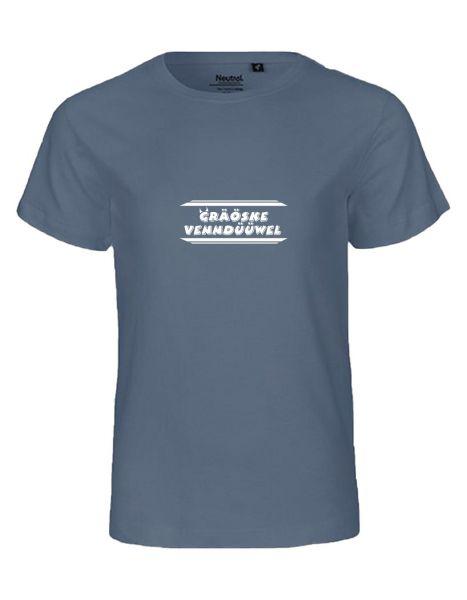 Gräöske Venndüüwel | T-Shirt KINDER | DUSTY INDIGO (blaugrau)