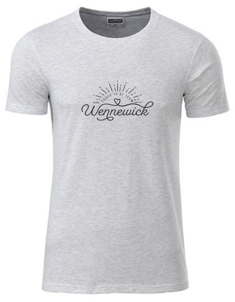 Proud to be from Wennewick | T-Shirt JUNGE | ASH HEATHER (hellgrau)