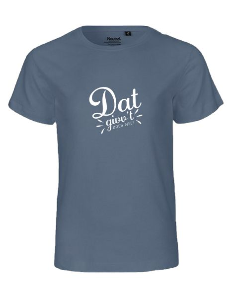 Dat givv't doch nee! | T-Shirt KINDER | DUSTY INDIGO (blaugrau)