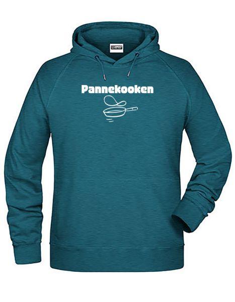Pannekoken | Hoodie MAN | PETROL MELANGE (türkis)