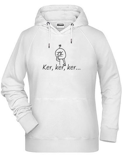 Ker, ker, ker | Hoodie DEERNE | WHITE (weiß)