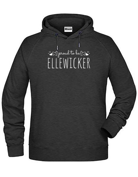 Proud to be Ellewicker   Hoodie MAN   BLACK HEATHER (schwarzgrau)