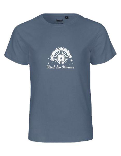 Kind der Kirmes | T-Shirt KINDER | DUSTY INDIGO (blaugrau)