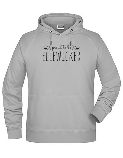 Proud to be Ellewicker | Hoodie MAN | ASH (hellgrau)