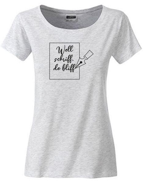 Well schriff de bliff | T-Shirt DEERNE | ASH HEATHER (hellgrau)