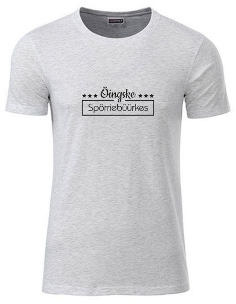 Öingske Spörriebüürkes | T-Shirt JUNGE | ASH HEATHER (hellgrau)