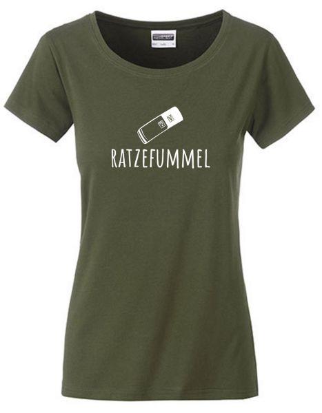 Ratzefummel | T-Shirt DEERNE | OLIVE GREEN (olivgrün)