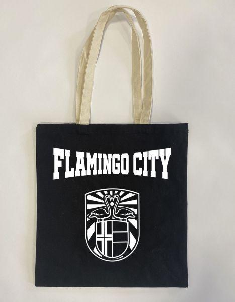 Flamingo City | Baumwoll Tasche | Einkaufstasche