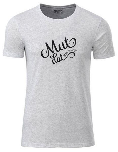 Mut dat dann wessen? | T-Shirt JUNGE | ASH HEATHER (hellgrau)