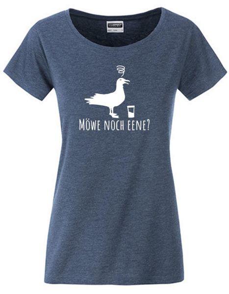 Möwe noch eene? | T-Shirt DEERNE | DENIM MELANGE (blaugrau)