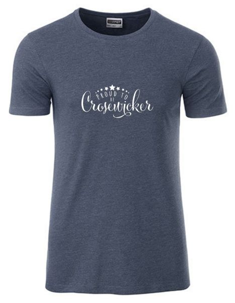 Proud to be Crosewciker | T-Shirt JUNGE | DENIM MELANGE (blaugrau)