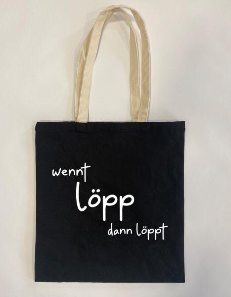 Wennt löpp dann löpp | Baumwoll Tasche | Einkaufstasche