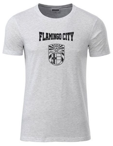 Flamingo City | T-Shirt JUNGE | ASH HEATHER (hellgrau)
