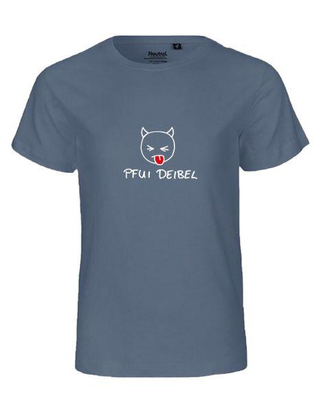 Pfui Deibel | T-Shirt KINDER | DUSTY INDIGO (blaugrau)