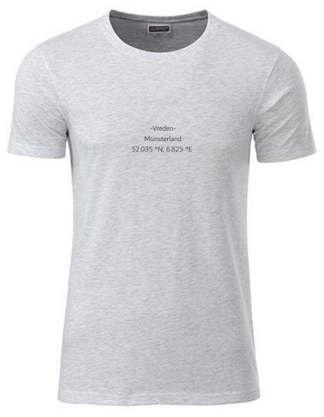 Breiten- und Längengrad klein | T-Shirt JUNGE | ASH HEATHER (hellgrau)