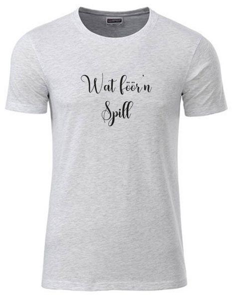 Wat föör'n Spill | T-Shirt JUNGE | ASH HEATHER (hellgrau)