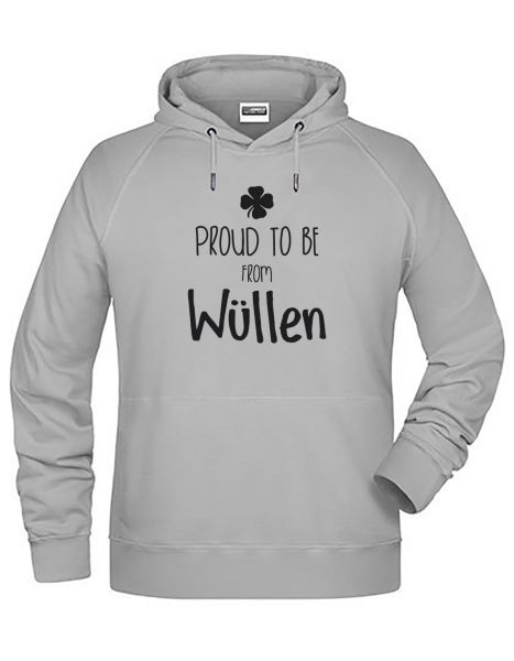 Proud to be from Wüllen | Hoodie MAN | ASH (hellgrau)