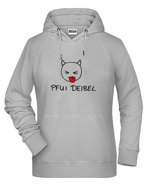 Pfui Deibel | Hoodie DEERNE | ASH (hellgrau)