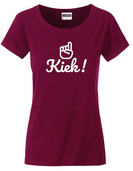 Kiek | T-Shirt DEERNE | WINE RED (weinrot)
