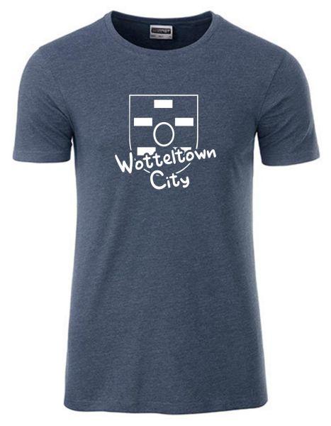 Wotteltown City | T-Shirt JUNGE | DENIM MELANGE (blaugrau)