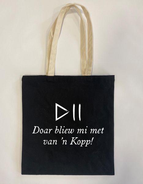 Doar bliew mi met van'n Kopp! | Baumwoll Tasche | Einkaufstasche