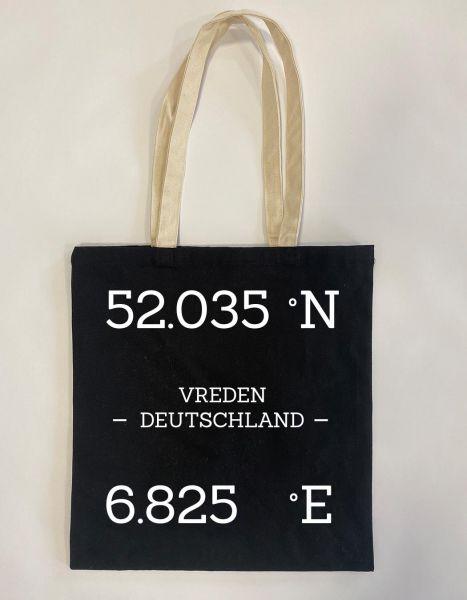 GPS Daten | Baumwoll Tasche | Einkaufstasche