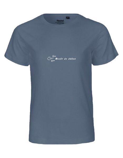 Wocht äs ääben   T-Shirt KINDER   DUSTY INDIGO (blaugrau)