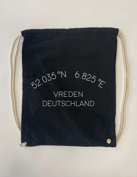 Koordinaten im Halbkreis | Baumwoll Rucksack | Sportsack