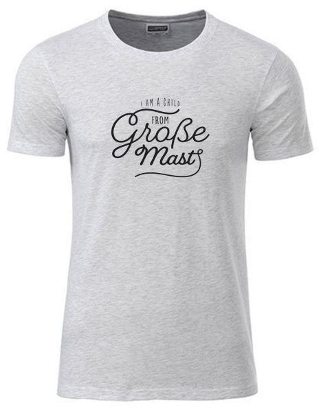 I am a child from Große Mast   T-Shirt JUNGE   ASH HEATHER (hellgrau)