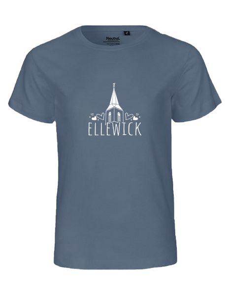 Ellewick | T-Shirt KINDER | DUSTY INDIGO (blaugrau)