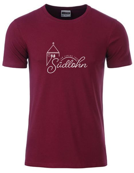 I am coming from Südlohn | T-Shirt JUNGE | WINE RED (weinrot)