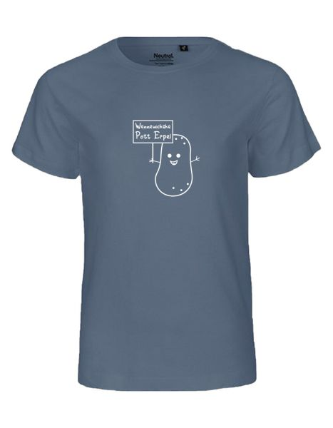 Wennewickske Pott Erpel | T-Shirt KINDER | DUSTY INDIGO (blaugrau)