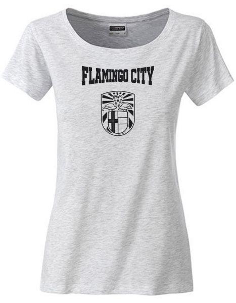 Flamingo City | T-Shirt DEERNE | ASH HEATHER (hellgrau)