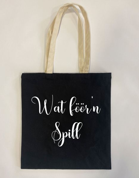 Wat föör'n Spill   Baumwoll Tasche   Einkaufstasche