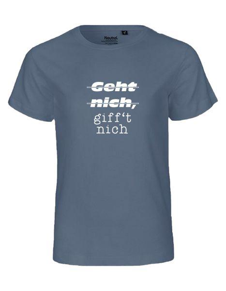 Geht nich, giff't nich | T-Shirt KINDER | DUSTY INDIGO (blaugrau)
