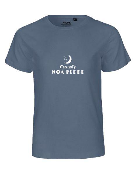 Goa wi's noa Bedde | T-Shirt KINDER | DUSTY INDIGO (blaugrau)