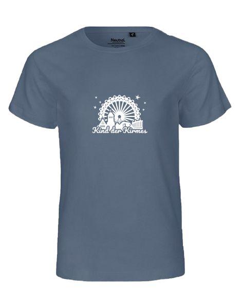 Kind der Kirmes mit Vreden Silhouette | T-Shirt KINDER | DUSTY INDIGO (blaugrau)