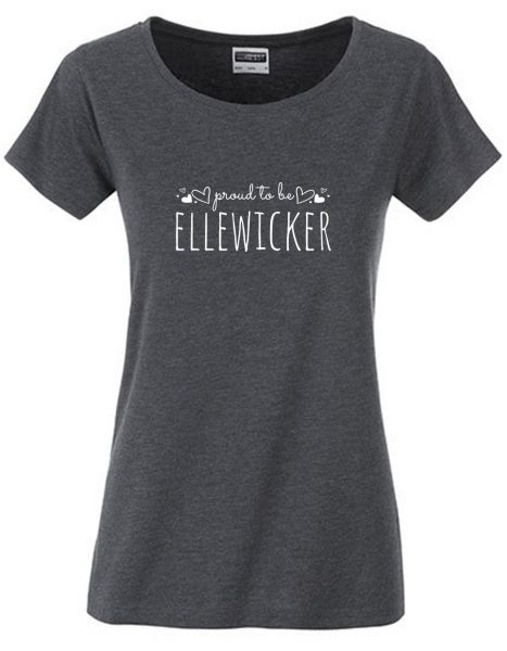 Proud to be Ellewicker | T-Shirt DEERNE | BLACK HEATHER (schwarzgrau)